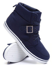 Fashion Lab - Heathered Canvas High Top Sneaker