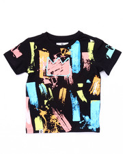 Boys - PAINT STROKE KING TEE (4-7)
