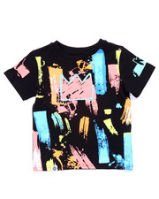 Boys - PAINT STROKE KING TEE (2T-4T)