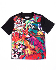 Tops - GRAFFITI SUBLIMATION TEE (8-20)