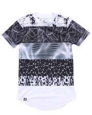 Tops - ELONGATED SUBLIMATION STRIPE TEE (8-20)