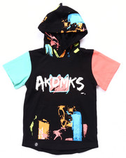 Boys - S/S PAINT STROKE ELONGATED HOODY (2T-4T)