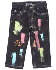 Bottoms - PAINT STROKE JEANS (2T-4T)