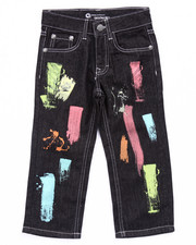 Boys - PAINT STROKE JEANS (4-7)