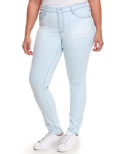 Fashion Lab - Blank Canvas Wash Skinny Jean  (Plus)