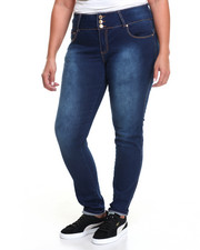 Fashion Lab - Buttshaper 3-Button Stretch Skinny Jean (Plus)