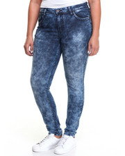 Fashion Lab - Acid Wash Skinny Jean (Plus)
