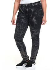Fashion Lab - Marble Wash Strech Skinny Jean (Plus)