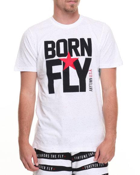 Born Fly Men Longhorn Tee White Small