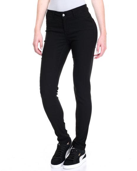 Fashion Lab Women Buttlifter Stretch Skinny Jean Black Large