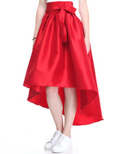 Bottoms - Hi-Low Hem Taffeta Skirt