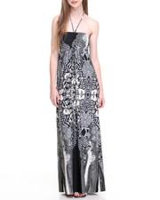 Dresses - Aztec Print Halter Maxi