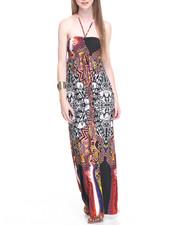 Women - Aztec Print Halter Maxi