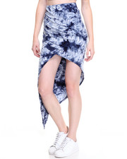 Fashion Lab - Tie Dye Asymmetrical Sarong Skirt
