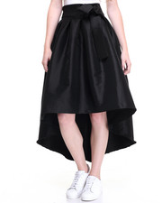 Women - Hi-Low Hem Taffetta Skirt