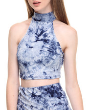 Women - Tie Dye Sleeveless Cropped Top