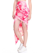Women - Tie Dye Asymetrical Sarong Skirt