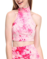 Women - Tie Dye Sleevelss Cropped Top