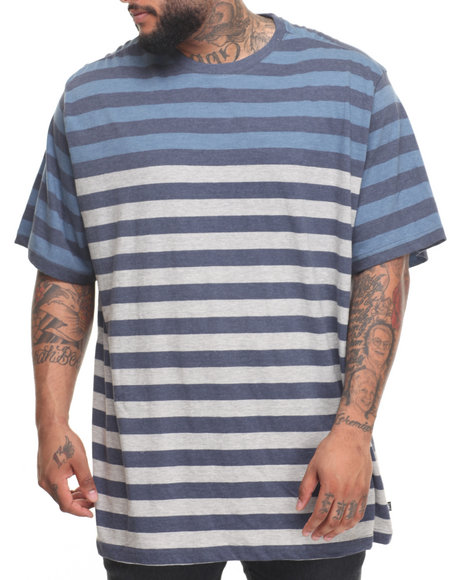 Lee Men Heather Jersey Striped TShirt (B&T) Navy 4XLB