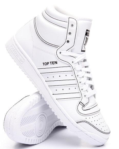 Adidas Men Top Ten Hi White 8