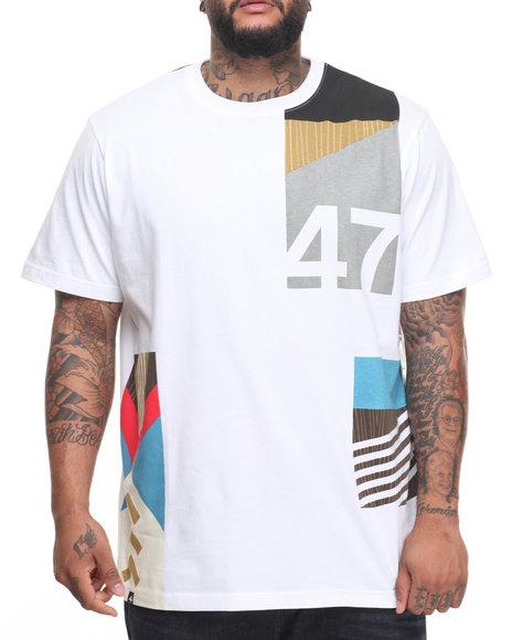 Lrg Men Paddle Team T-Shirt (B&T) White 3X-Large