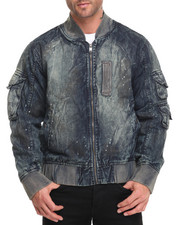 Outerwear - Rip - And - Repair Dirt Vintage Denim Bomber