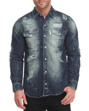 Button-downs - Rip - And - Repair Dirt Vintage Denim L/S Button - Down