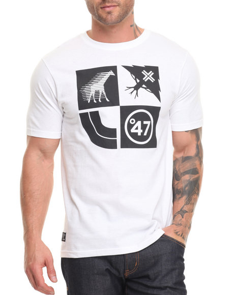 Lrg Men Lifted Cluster T-Shirt White Small