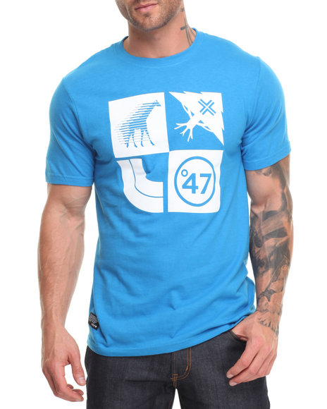 Lrg Men Lifted Cluster T-Shirt Blue Large