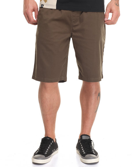 Lrg Men Rc Elastic Waist Walk Short Green Small