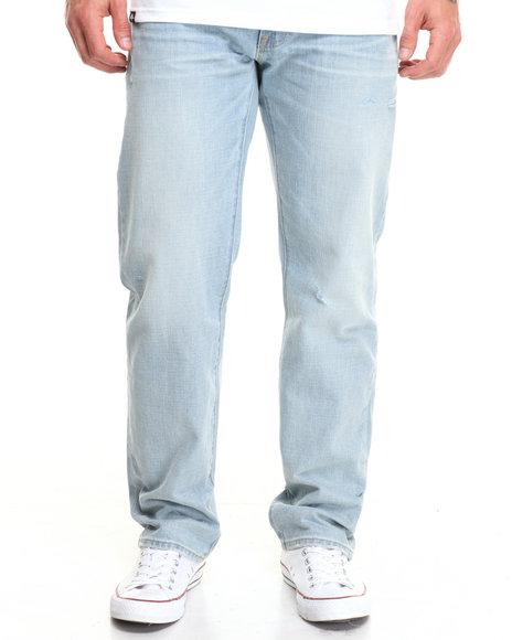 Lrg Men Core True Straight Denim Jeans Light Wash 30