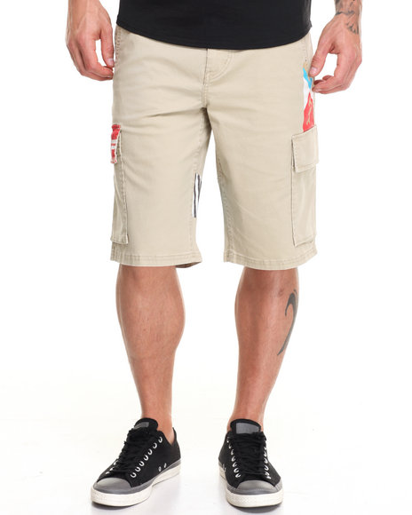 Lrg Men Paddle Team Cargo Short Khaki 34