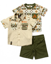 Sets - 3 PC AZTEC WOVEN, TEE, & SHORTS (INFANT)