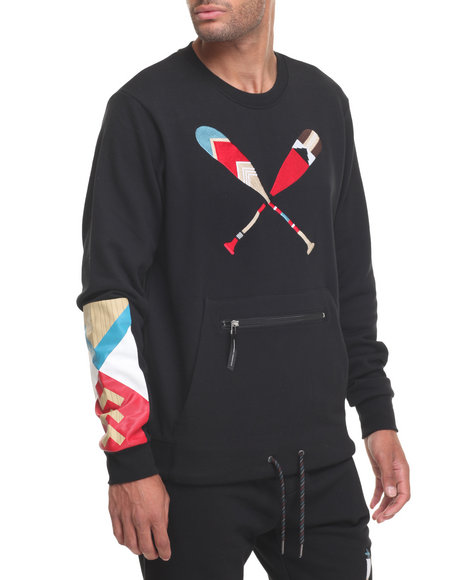 Lrg Men Paddle Team Sweatshirt Black X-Large