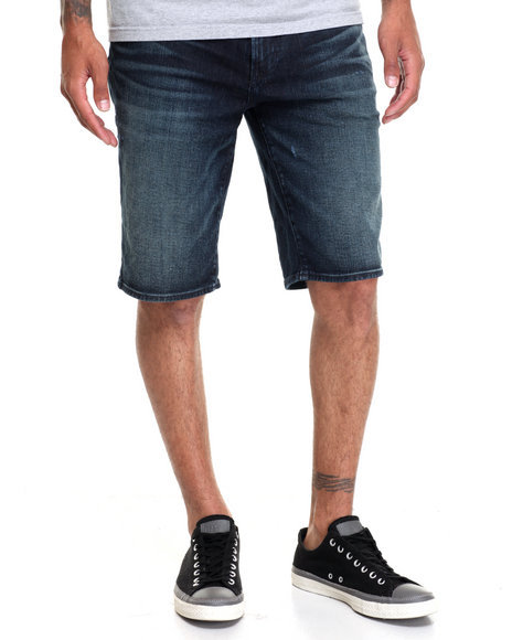 Lrg Men Rc Ts Denim Short Dark Wash 30
