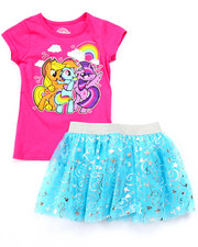 Sizes 4-6x - Kids - 2 PC SET - MY LITTLE PONY TEE & TUTU SKIRT (4-6X)