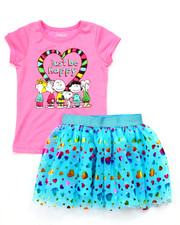 Sizes 4-6x - Kids - 2 PC SET - PEANUTS TEE & TUTU SKIRT (4-6X)