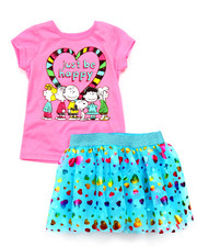 Sets - 2 PC SET - PEANUTS TEE & TUTU SKIRT (2T-4T)
