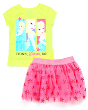 Sets - 2 PC SET - ELSA DREAM TEE & TUTU SKIRT (2T-4T)