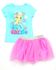 Sizes 4-6x - Kids - 2 PC SET - ELSA DAZZLE TEE & TUTU SKIRT (4-6X)