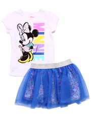 Sizes 4-6x - Kids - 2 PC SET - MINNIE TEE & TUTU SKIRT (4-6X)