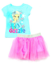 Girls - 2 PC SET - ELSA DAZZLE TEE & TUTU SKIRT (2T-4T)