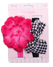 Girls - Flower / Bow 2Pc Headband Set