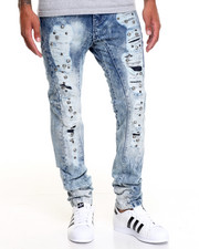 Men - Riveted Rip - And - Repair Denim Jeans