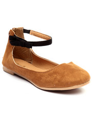 Fashion Lab - Ankle Strap Cognac Flat Shoe