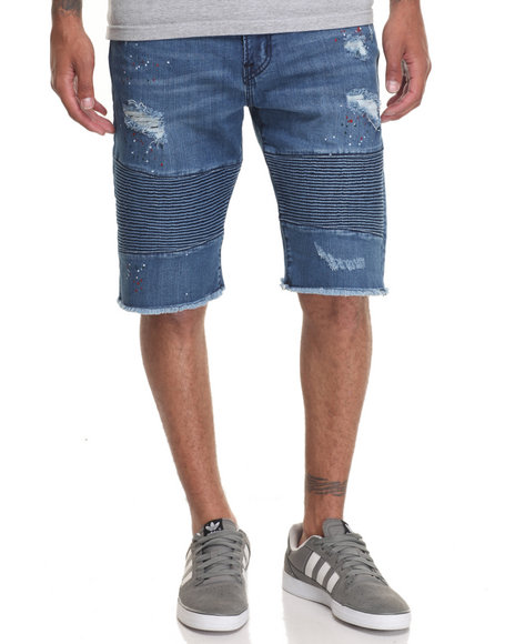 Lrg Men Glyph Coat Denim Short Dark Wash 30