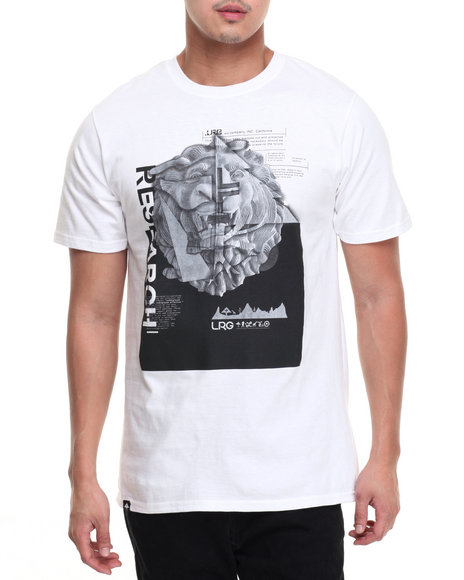 Lrg Men Stone Leo T-Shirt White XX-Large