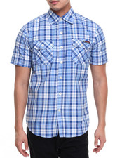 Button-downs - S/S Plaid Button-Down