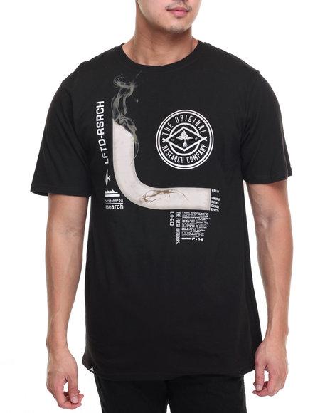 Lrg Men Smoke Room T-Shirt Black Small