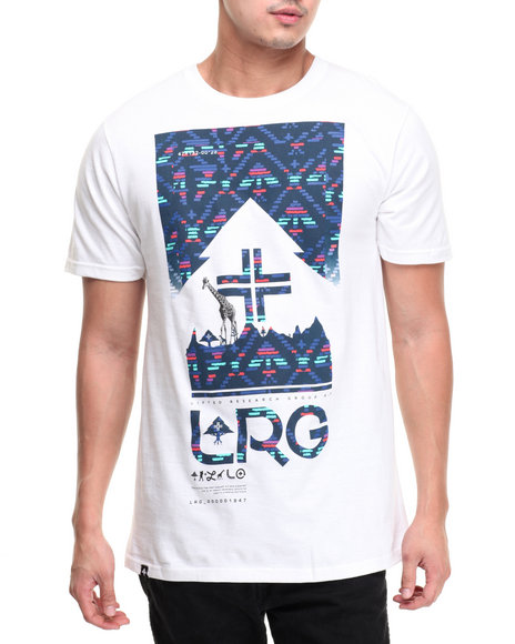 Lrg Men 4 Sided Story T-Shirt White Small